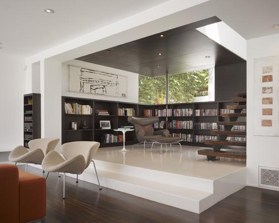 Modern library table ideas