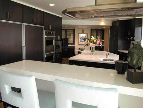Open kitchen designs with islands