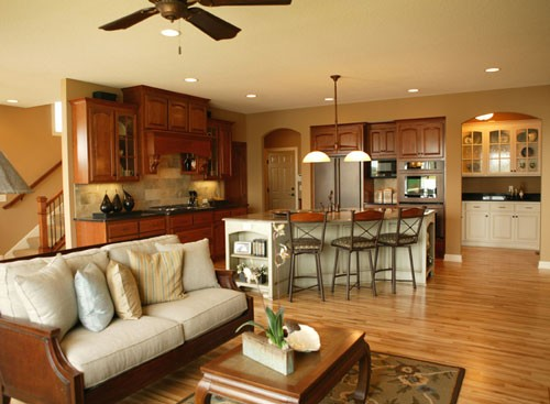 Open Kitchen Floor Plans open kitchen floor plans design - appliance in home