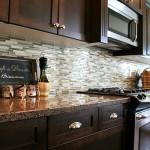 Rock backsplash for kitchen 2012