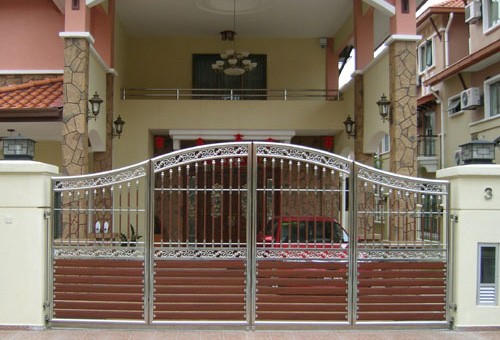 Steel gate design images