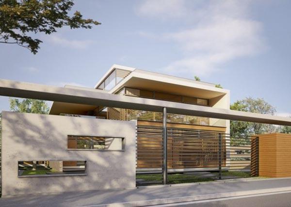 Steel gate design modern