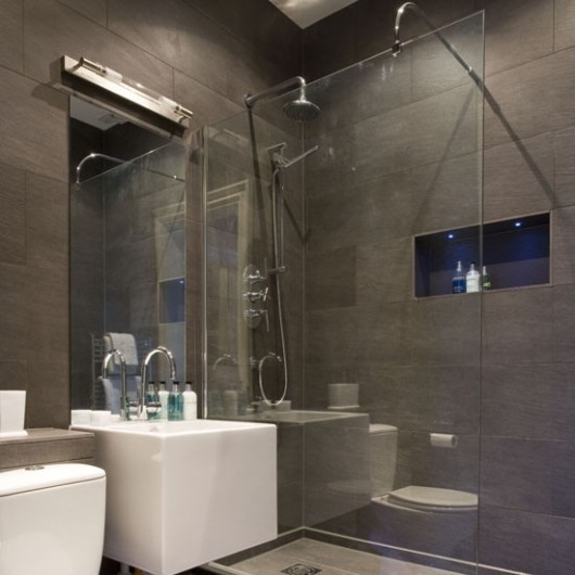 Walk in tile showers decor