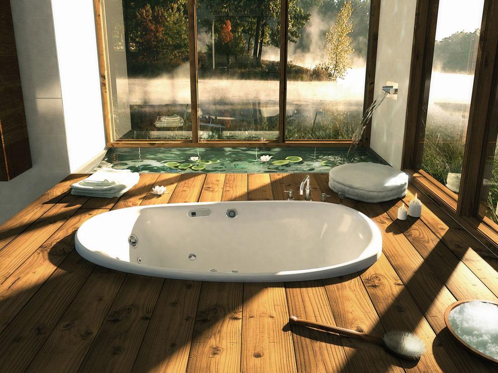 Bathroom with bath up design decor