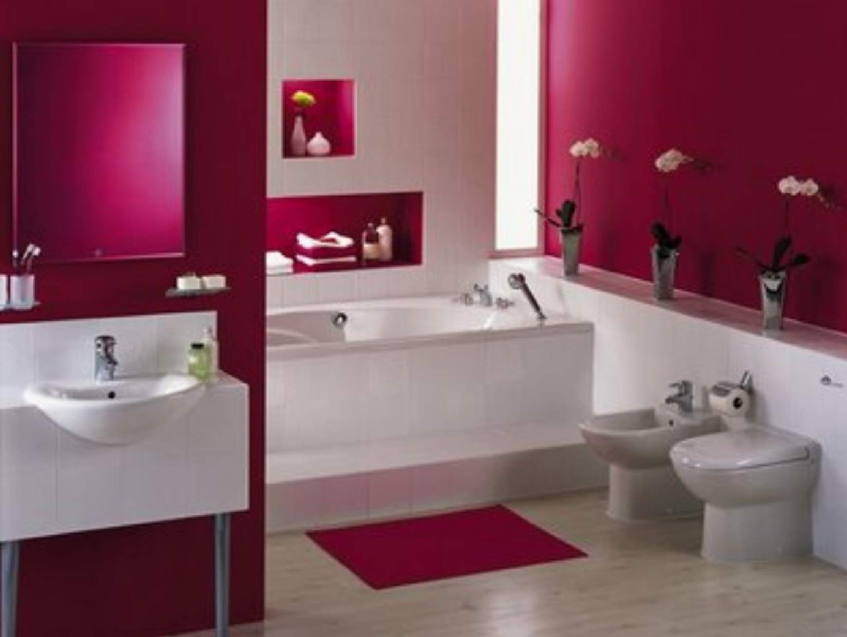 pink bathroom illustration pink bathroom ~ dact
