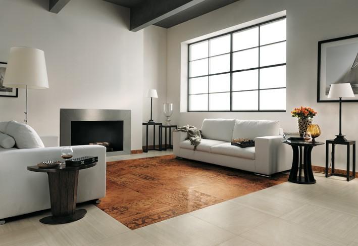Modern ceramic tile flooring decor