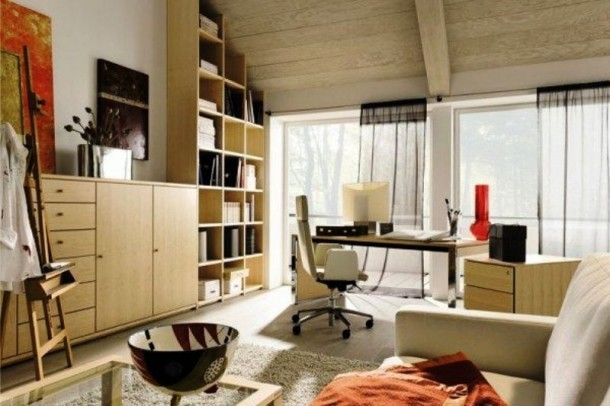 Modern office space decor
