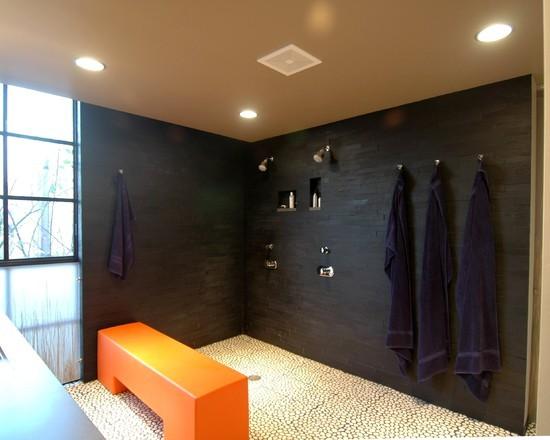 Open shower design decor