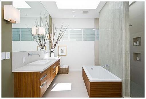 Open shower design without door