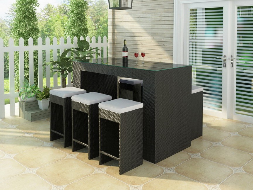 Outdoor Wicker Bar Sets decor