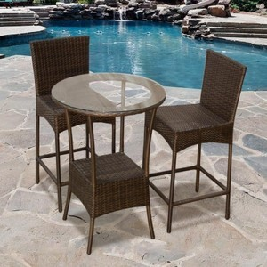 Outdoor Wicker Bar Sets modern