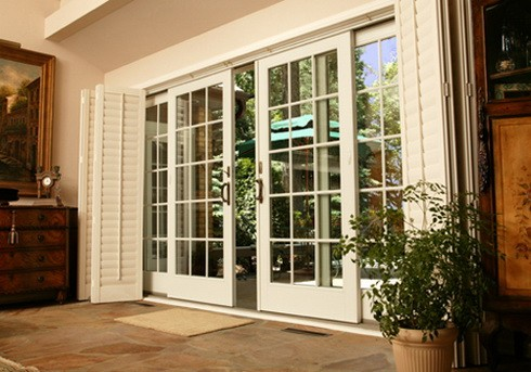 Outside French Doors