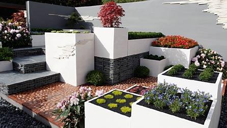 Rock garden design modern