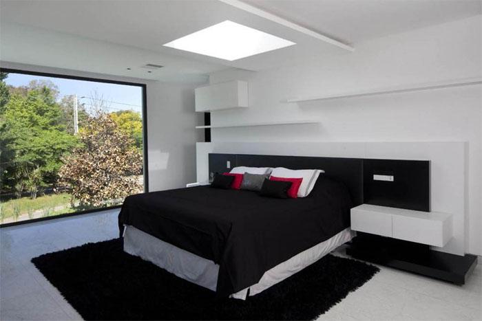 Black bedroom design ideas