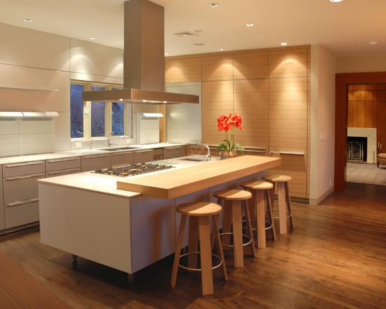 Kitchen floor laminate wood decor
