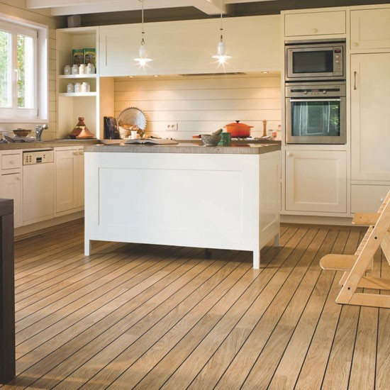 Kitchen floor laminate wood