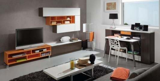 LCD TV wooden cabinets decor
