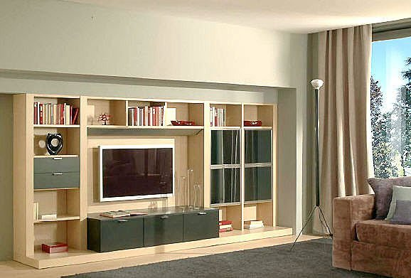 LCD TV wooden cabinets interior