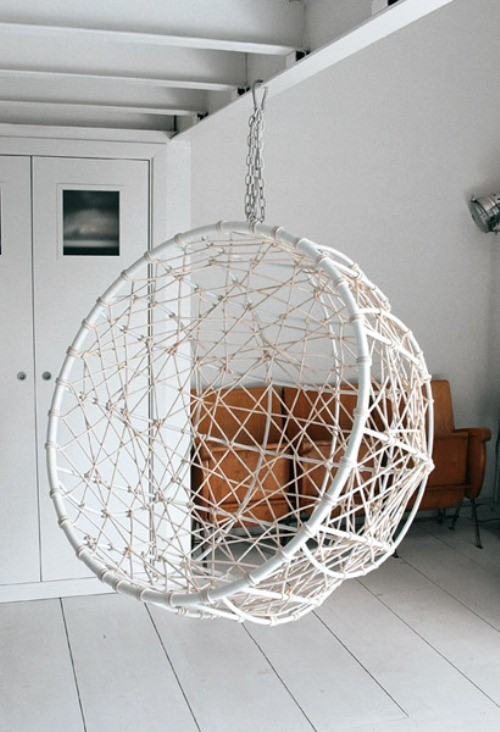 Metal hanging garden chair ideas