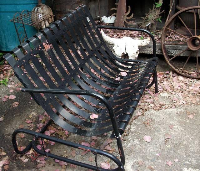 Metal hanging garden chair outdoor