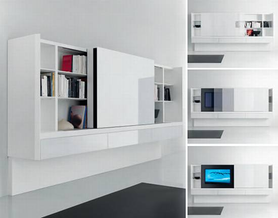 Gentil Modern Book Cabinets Decor