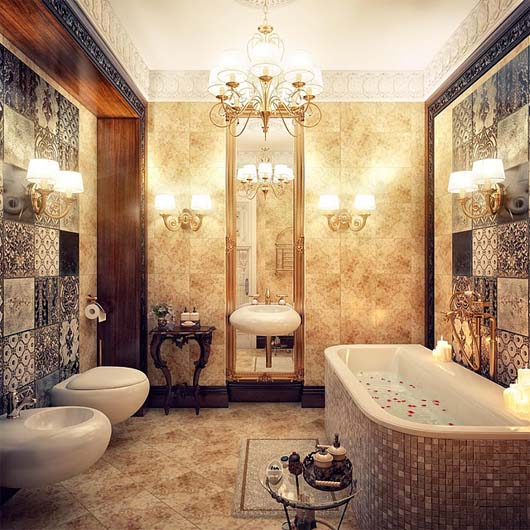 Modern vintage bathroom ideas decorating