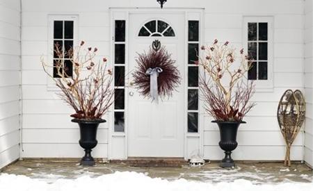 Outdoor fall door decorations modern