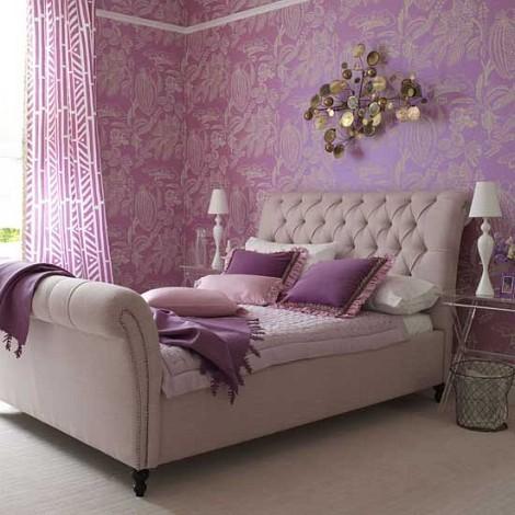 Purple colored rooms decor