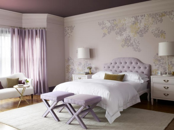 Purple colored rooms ideas