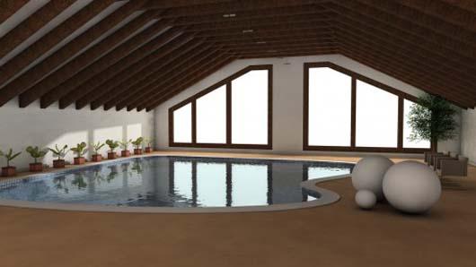 Roof swimming pool design decor