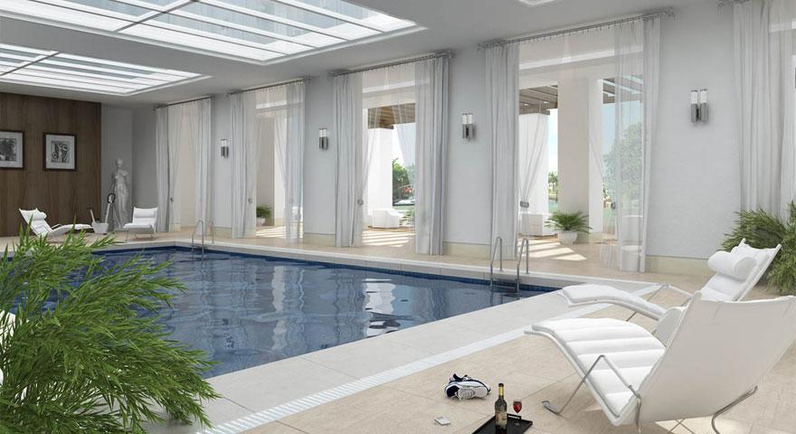 Roof swimming pool design modern