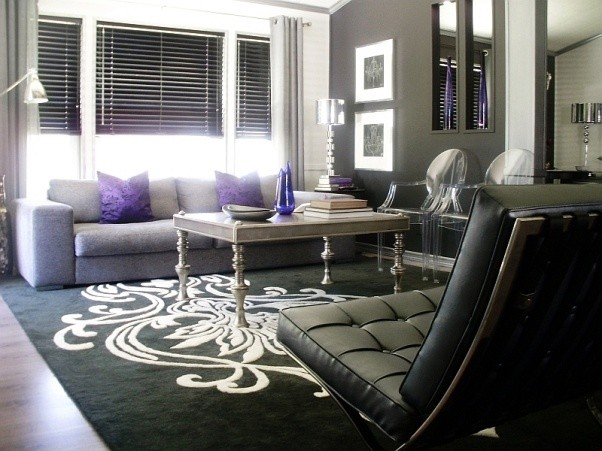 Room designs in black and silver modern