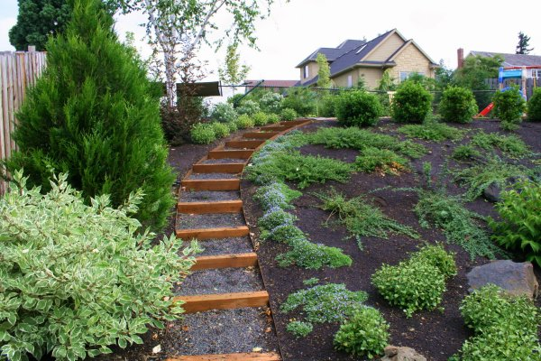 Sloped garden ideas decor