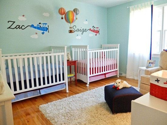 Twin baby furniture interior
