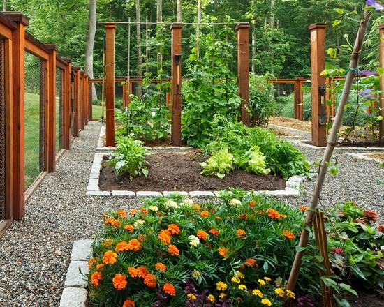 Vegetable garden fence decor