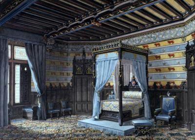 Charming Victorian Gothic Bedroom Ideas Interior