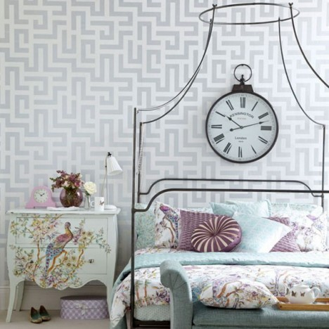 Vintage room wallpaper ideas