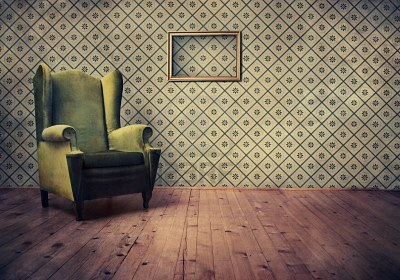 Vintage room wallpaper photo