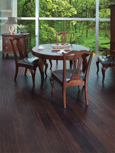 Acacia wood flooring decor