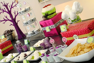 Baby shower table decorations interior