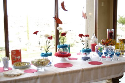 Baby shower table decorations pictures