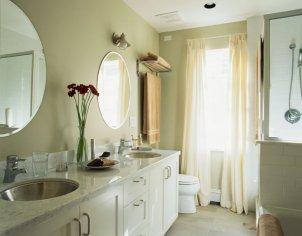Bathroom window curtains decor