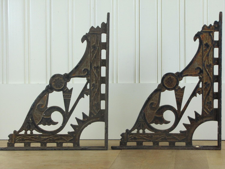 Decorative shelf brackets metal