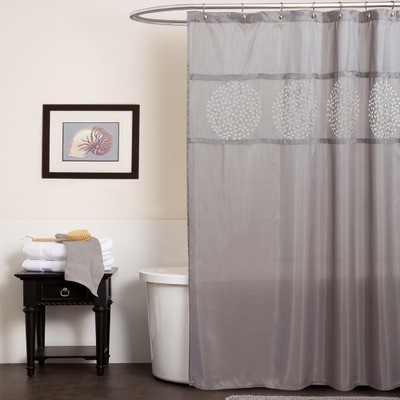 Fabric shower curtains decor