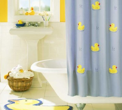 Fabric shower curtains for kids bathroom