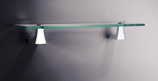 Glass shelf brackets chrome