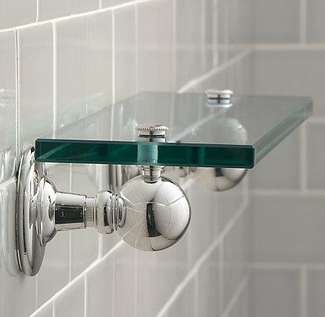 Glass shelf brackets ideas