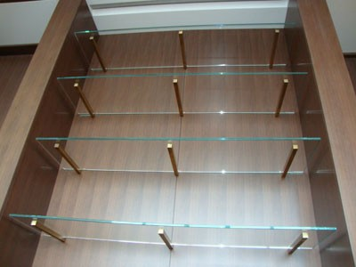 Glass shelf brackets stainless steel Appliance In Home