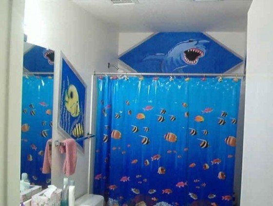 Kids bathroom decor fish
