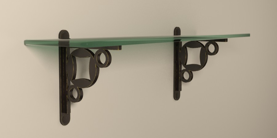 Metal shelf brackets ideas